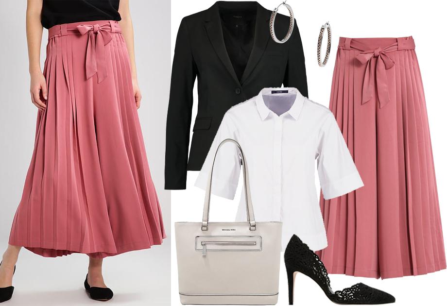 Spodnie jak spódnica - stylizacja do pracy