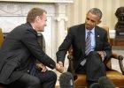 Spotkanie Obama - Tusk: Utrzyma� sankcje wobec Rosji, p�ki umowa z Mi�ska nie zostanie wdro�ona