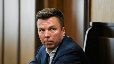 Marek Falenta podczas rozprawy w sprawie afery taśmowej, 21.07.2016 Warszawa