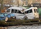 Nowy bilans silnych wichur: 70 rannych, 118 budynk�w uszkodzonych