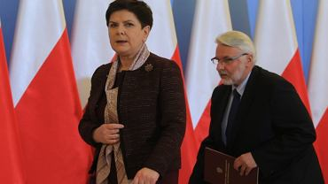 Premier Beata Szydło i szef dyplomacji Witold Waszczykowski
