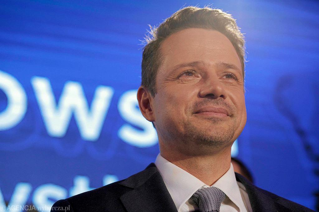 Rafał Trzaskowski podczas wieczoru wyborczego