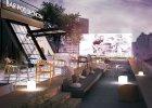Pod Słońcem - wizualizacja kawiarni na dachu Domu Towarowego Braci Jabłkowskich