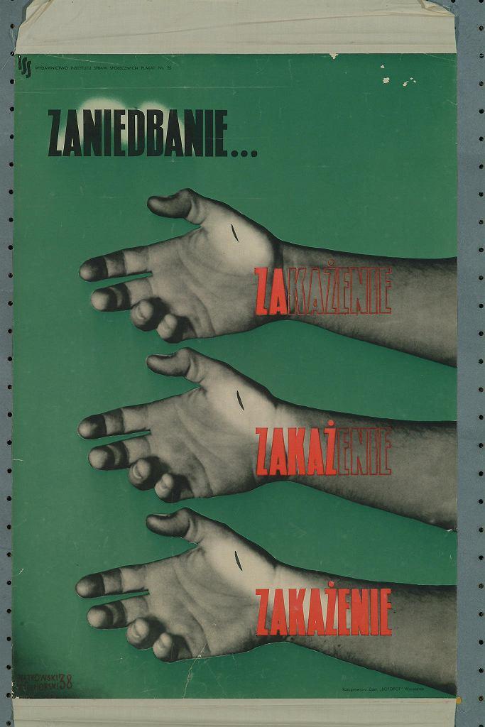 Czesława Wielhorski i Lucjan Piątkowski ' Zaniedbanie. zakażanie', 1938. Obiekt z wystawy ' Przyszłość będzie inna.  / CENTRALNY INSTYTUT OCHRONY PRACY - PAŃSTWOWY INSTYTUT BADAWCZY