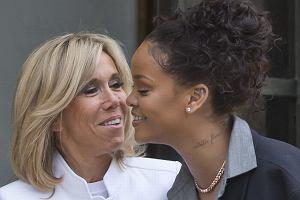 Rihanna spotkała się z Brigitte Macron w Paryżu