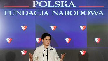 Beata Szydło ogłasza powstanie Polskiej Fundacji Narodowej