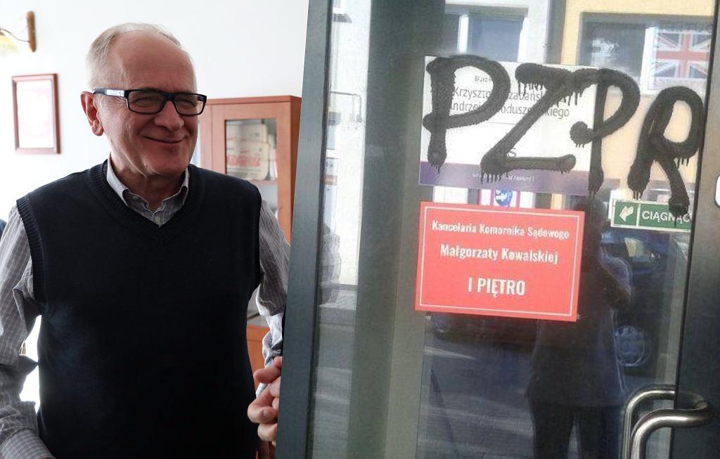 Biuro Krzysztofa Czabańskiego zdewastowane