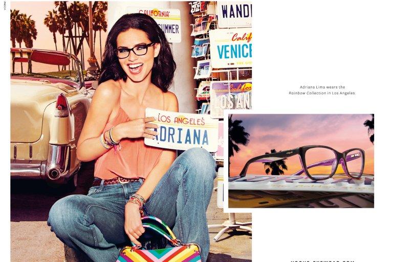 Adriana Lima w wiosennej kampanii okular�w Vogue Eyewear