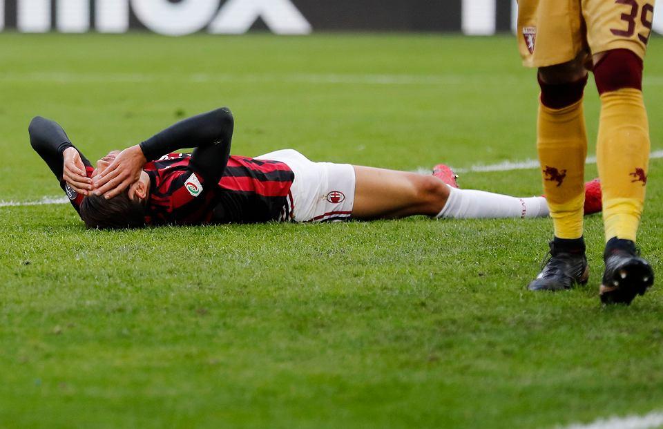 Załamany Andre Silva. Mecz AC Milan - Torino 0:0