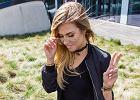 Wyszczuplająca czerń na wiosnę - zobacz jak nosi ją Paulina Kuczyńska