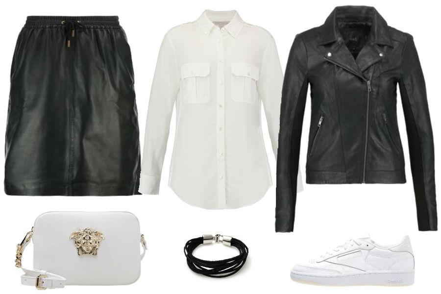 f0a26c3c13 Czarne ubrania ze skóry - must have na jesień