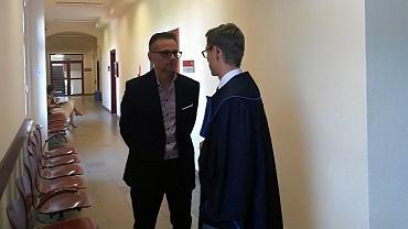 Prof. Paweł Frącz ze swoim pełnomocnikiem