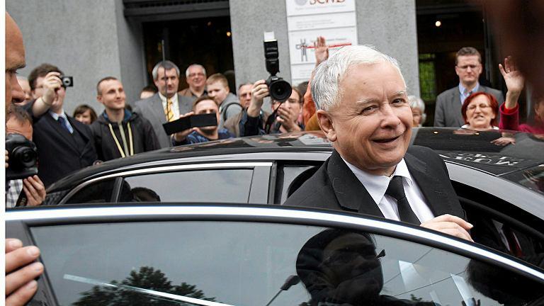 Jarosław Kaczyński wśród swoich wyborców. Maj 2014, Katowice