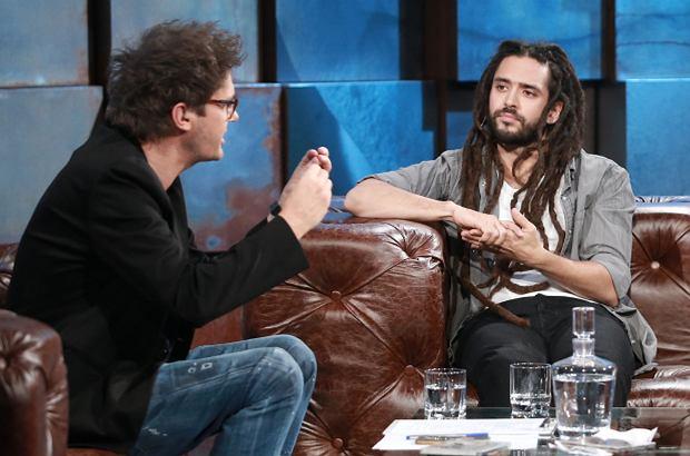 Kuba Wojewódzki gościł u siebie muzyka reggae Mesajaha. Rozmawiali o marihuanie i... Krystynie Pawłowicz.