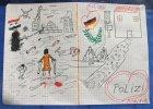 Martwi ludzie w ka�u�ach krwi i mi�o�� dla Niemc�w. Syryjska dziewczynka rysuje tu�aczk� uchod�c�w
