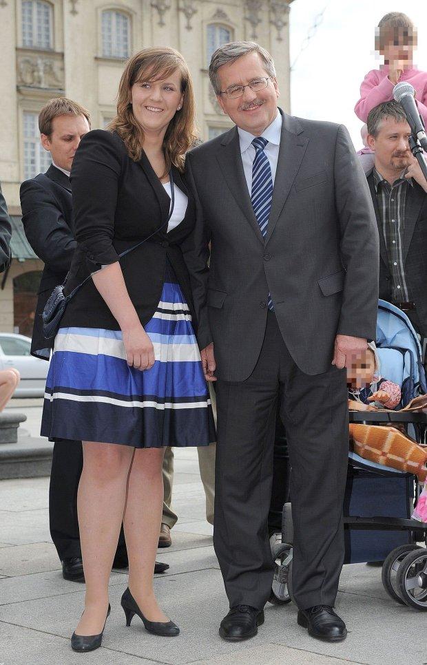 Bronisław Komorowski z córką w 2010