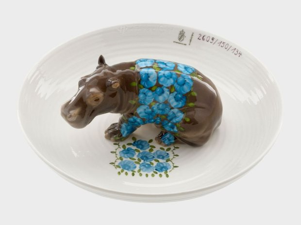 Animal Bowl With Hipopotamus