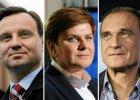 Ranking zaufania polityk�w. Na czele Duda, Kukiz i Szyd�o