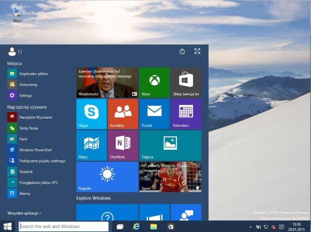 Windows 10 - pierwsze wrażenia użytkownika Windows 7
