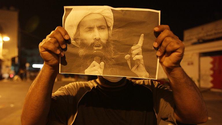 Zdjęcie al-Nimra ukazane podczas starć z policją