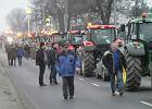 Wesoła: Rolnicy opuszczają Trakt Brzeski. Policja spisała numery tablic