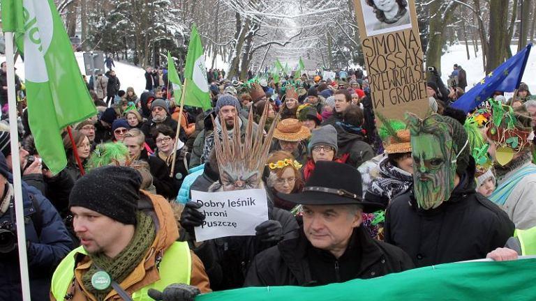 Marsz w obronie Puszczy Białowieskiej