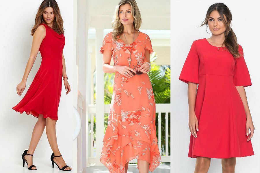 Sukienki w odcieniach czerwieni