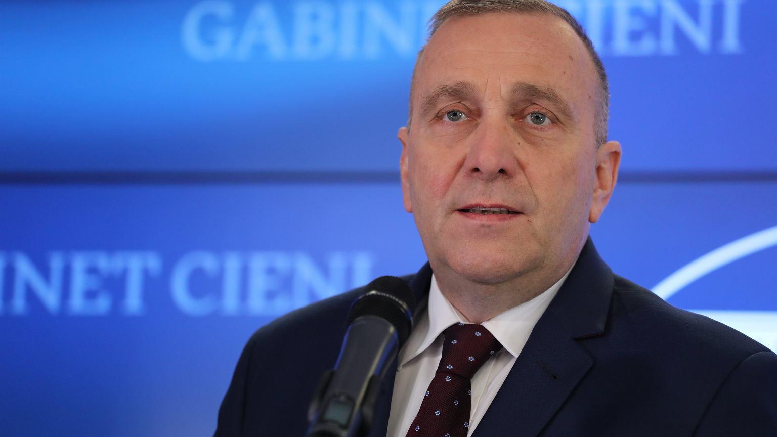 Konferencja prasowa Grzegorza Schetyny