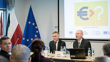 Konferencja 'Co dalej z Euro'. Siedziba Przedstawicielstwa Komisji Europejskiej w Polsce, Warszawa, 5 grudnia 2017