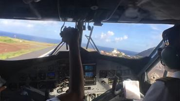 Lądowanie na wyspie Saba