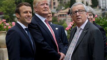 Macron i Juncker mieli ostatnio okazję twarzą w twarz omawiać przyszłość strefy euro podczas szczytu G7 w Tarominie