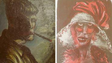 Zdjęcia dwóch nieznanych wcześniej obrazów niemieckiego artysty Otto Dixa, odkryte wśród innych dzieł sztuki