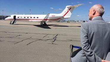 Powitanie samolotu dla VIP-ów w Polsce