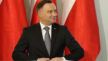 Prezydent Andrzej Duda - lider rankingu zaufania do polityków.