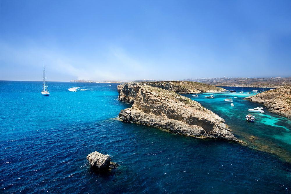 Malta, laguna Comino