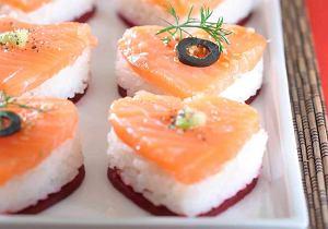 Serduszka - sushi