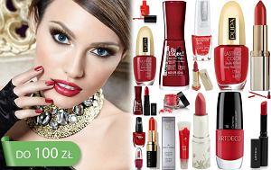 Czerwone kosmetyki do makija�u, czerwie�, makija�, manicure