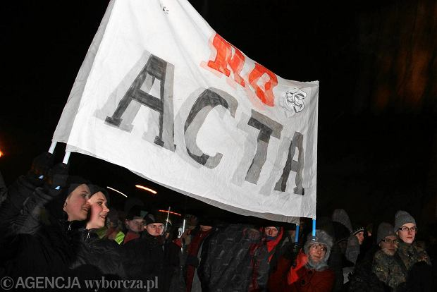 W krakowskim protecie przeciw ACTA wzio udzia okoo 500 osb