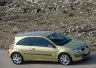 RENAULT Megane II Hatchback 02-06, rok produkcji 2002, coupe, widok przedni prawy, samoch�d 3-drzwiowy, kolor z�oty