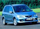 MAZDA Premacy 99-02, rok produkcji 2002, mpv, widok przedni prawy, samoch�d 5-drzwiowy, kolor niebieski jasny