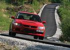 MITSUBISHI Lancer Sedan 02-06, rok produkcji 2005, sedan, widok przedni prawy, samoch�d 4-drzwiowy, kolor czerwony jasny
