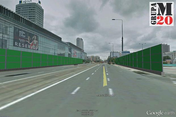 Zdjęcie numer 0 w galerii - Centrum Warszawy za ekranami? Zobacz jak by wyglądało