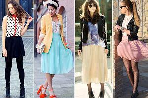 Jak nosi� plisowan� sp�dnic�: stylizacje szafiarek