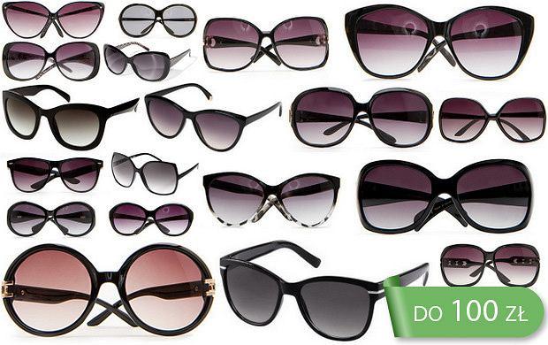 Okulary przeciws�oneczne w czerni do 100 z�!