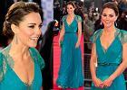 Kate Middleton nareszcie w spi�tych w�osach i w turkusowej kreacji - jak wam si� podoba? [Du�o zdj��!]