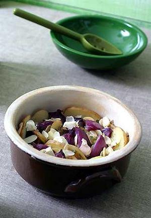 Cebule z serem feta