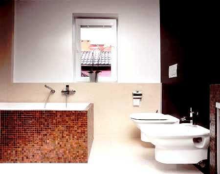 1. Niezb�dne odleg�o�ci<br> Aby�my mogli wygodnie korzysta� z urz�dze� sanitarnych, musi by� do nich dost�p.  Dla bidetu nale�y przeznaczy� powierzchni� co najmniej 70 x 100 cm,  a dla sedesu - 80 x 85 cm.  Przed wann� powinni�my mie� przynajmniej 70 x 100 cm wolnego miejsca, a przed umywalk� - 65 x 100 cm.