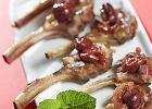 Kotleciki jagni�ce z wi�niami