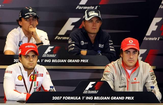 Robert Kubica, Nico Rosberg, Felipe Massą i Fernando Alonso