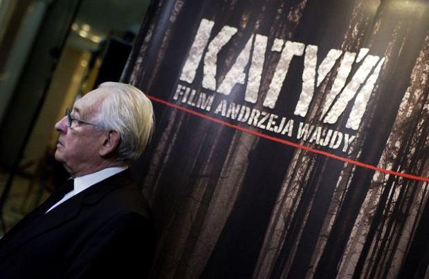 Andrzej Wajda na premierze filmu